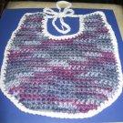Shades of Purple Crocheted Baby Bib