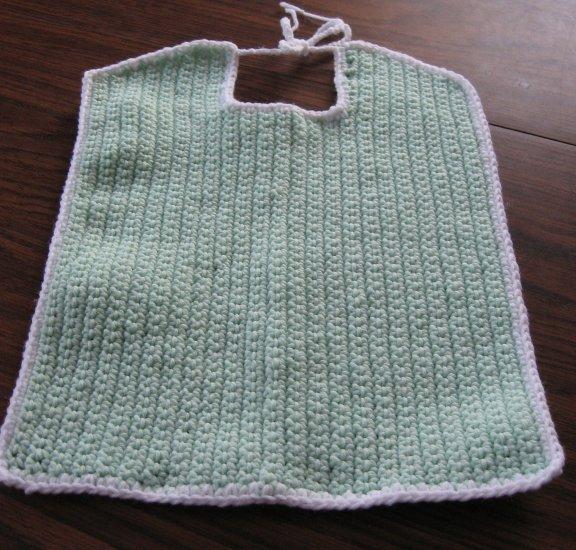 Large mint Green Crochet Bib