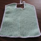 Large mint Green Crochet Bib