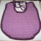 Purple Crocheted Baby Bib