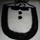 Tuxedo Crochet Baby Bib