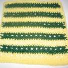 Green Bay Packers Yellow and Green Crochet Dish Cloth