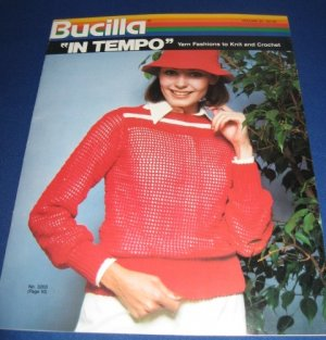 Bucilla in tempo yarn fashions to knit and crochet no 3203
