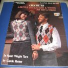 Crocheted Argyle sweaters and vests for men and women Leisure Arts 284