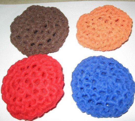 4  crochet scrubbies pot scrubbers