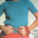 Sweaters Made Easy Coats and clarks book No 288