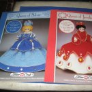 2 Fibre Craft Queen of Silver and Queen of Jewels for dolls 15 inches Crochet Booklets