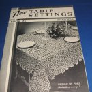 New table settings book 95 spool cotton company crochet pattern
