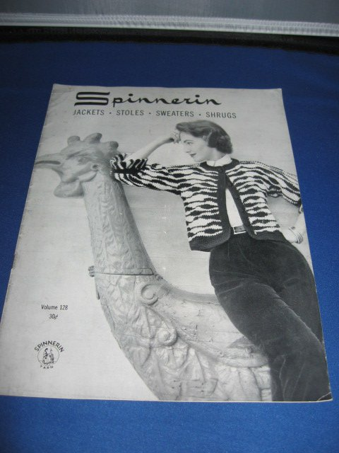 Spinnerin Jackets Stoles Sweaters Shrugs knit and crochet pattern