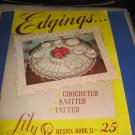 Edgings crocheted knitted tatted Lily book 21 crochet pattern