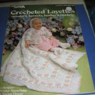 Leisure arts 219 Crochete Layettes sweaters bonnets booties blankets