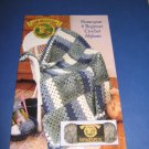 Lion Brand Yarn Homespun 6 beginner crochet afghans crochet pattern