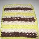 Brown cream and yellow Crochet Dish Cloth