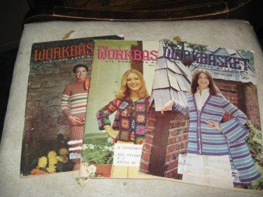 Workbasket magazines lot of 3 1975