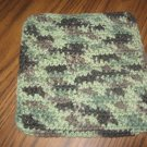 Camo colors crochet dish cloth