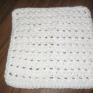 White Crochet Dish Cloth