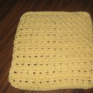 Yellow  Crochet Dish Cloth