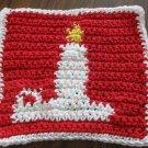 Christmas Crochet Candle dish cloth