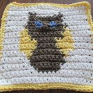 Crochet owl dish cloth