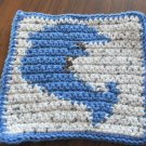 Crochet Dolphin dish cloth 100% cotton