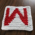 Crochet Wisconsin Badgers dish cloth 100% cotton
