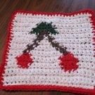 Crochet cherries dish cloth 100% cotton