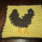 Crochet chicken dish cloth 100% cotton