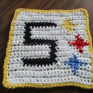 Crochet Pittsburgh Steelers dish cloth 100% cotton