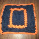 Crochet Denver Broncos dish cloth 100% cotton