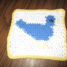 Crochet bluebird dish cloth 100% cotton