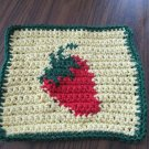 Crochet Strawberry dish cloth 100% cotton