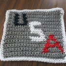 Crochet U S A dish cloth 100% cotton