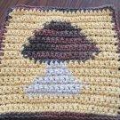 Crochet Mushroom dish cloth 100% cotton