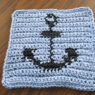 Crochet Anchor dish cloth 100% cotton