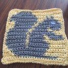 Crochet Squirrel dish cloth 100% cotton