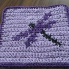 Crochet Dragonfly dish cloth 100% cotton