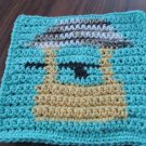 Crochet Wishing Well dish cloth 100% cotton