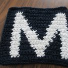 Crochet Milwaukee Brewers dish cloth 100% cotton