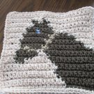 Crochet Horse dish cloth 100% cotton