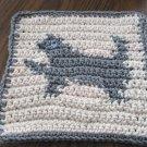 Crochet Cat Kitten dish cloth 100% cotton