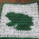 Crochet Frog dish cloth 100% cotton