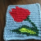 Crochet tulip #2 dish cloth 100% cotton