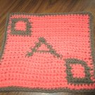 Crochet Dad Fathers Day dish cloth 100% cotton