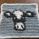 Crochet Holstein Cow dish cloth 100% cotton