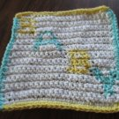 Crochet  BABY washcloth 100% cotton