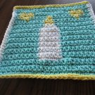Crochet  baby bottle washcloth 100% cotton