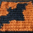 Crochet Halloween Bat dish cloth 100% cotton