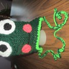 Crochet Frog Baby Cap