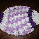 Crochet fish light purple and dark purple dish cloth or bath scrubbie 100% cotton
