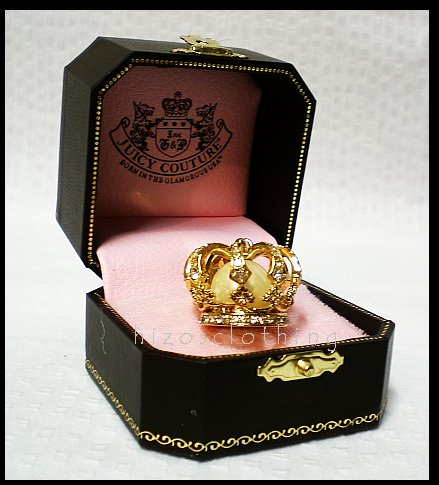 Authentic Juicy Couture Royal Pave Crown Pearl Charm